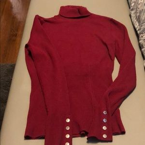 WHBM burgundy sweater